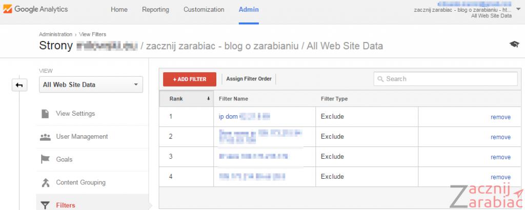 Google Analytics_blokowanie stalego ip